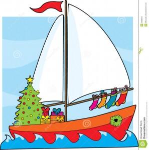weihnachtssegelboot